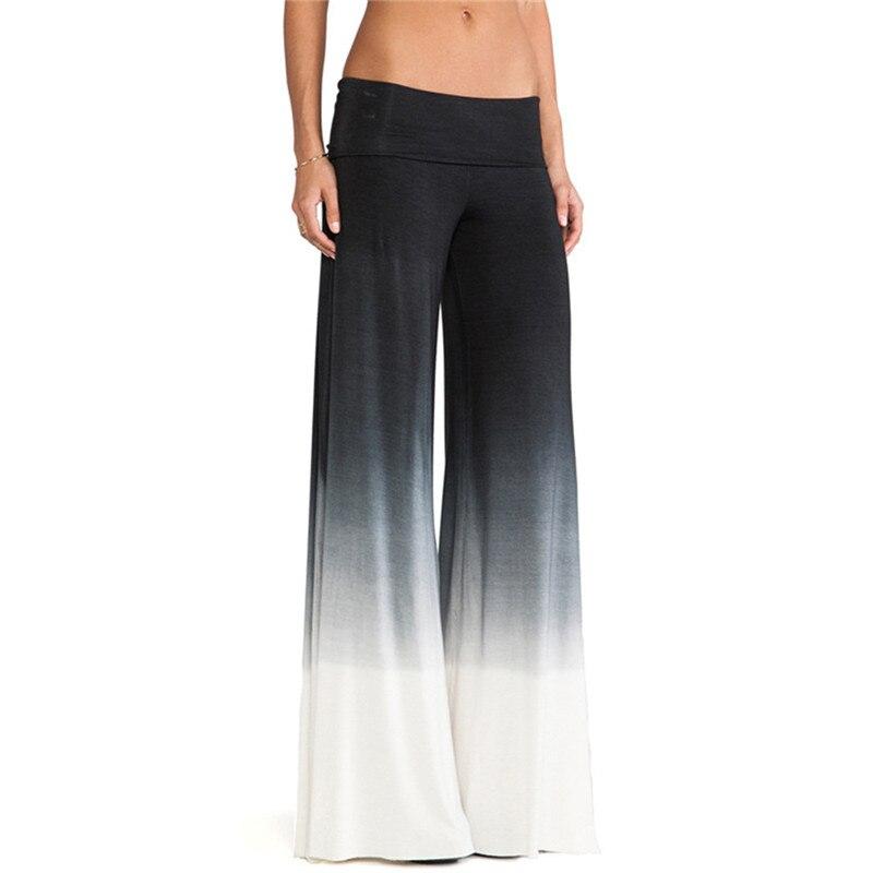 Spring Summer Fashion Lady Trusers Mid Waist Chiffon Wide Leg Pants Female Loose Casual Nine Yards Pants For Women S/M/L/XL