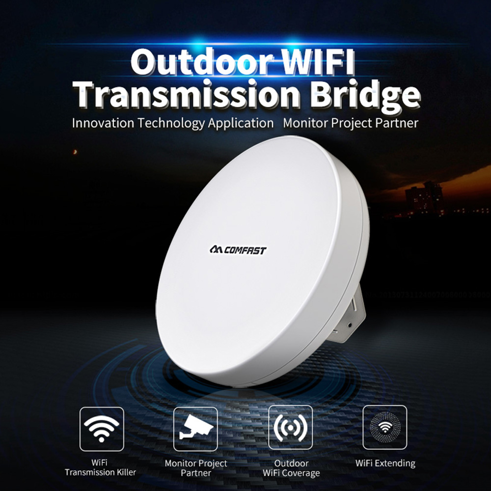 New Wireless Bridge 2 4 5 8G WIFI Router Outdoor Wireless Repeater CPE 300Mbps Router Bridge Wifi Repeater For Long Range IP Cam in Modem Router Combos from Computer Office