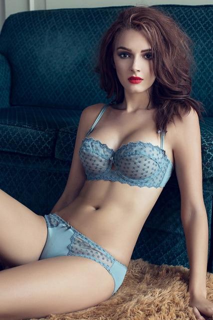 48f2234d16ced Joy Alice 2017 Ultra-thin transparent lace bra panties women sexy bralette  set girl small