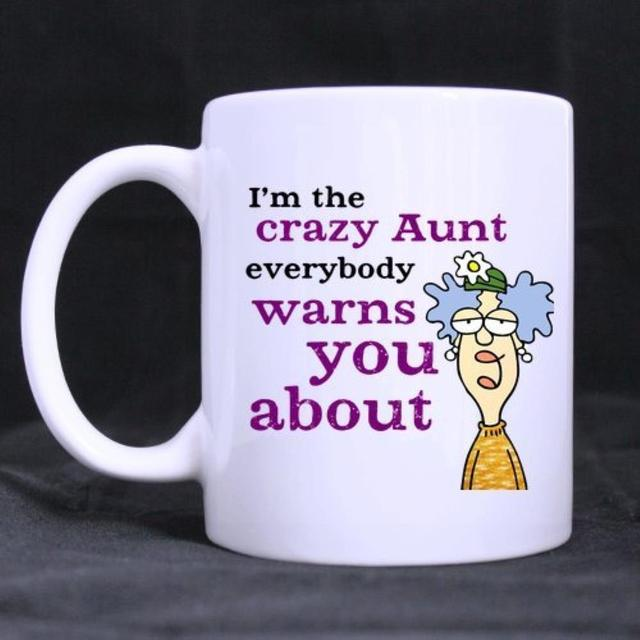 Funny Printed Coffee Mug Quotes Warning Im The Crazy Aunt Novel