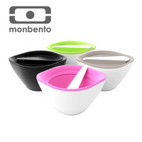 Monbento colorful double bowl with lid sealed plastic microwave lunch cute bowls bowl drop UNbreak bowl