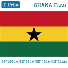 лучшая цена Free shipping Ghana National Flag  90*150cm/60*90cm/30*45cm/15*21cm For National Day Event World Cup