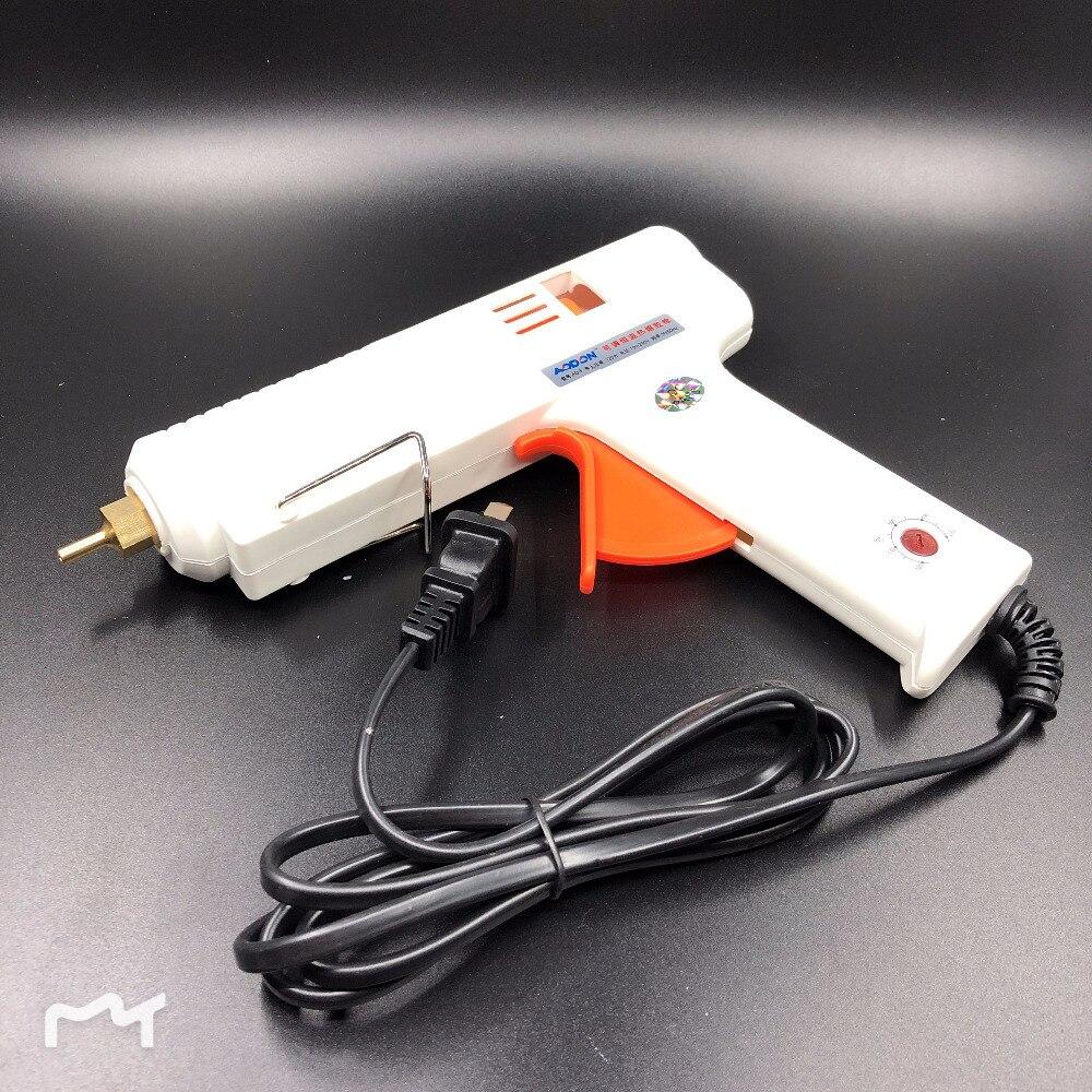 Processo di riparazione utensili elettrici per 11mm colla stick 120 w professionale hot melt pistola di colla regolabile termostato del riscaldatore colla pistola