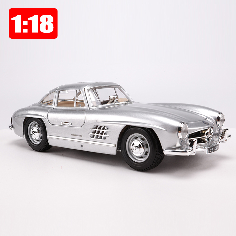 Maisto 1 18 Classic Cars Model Alloy Static Model 300SL Model Premium Edition Color Box Package