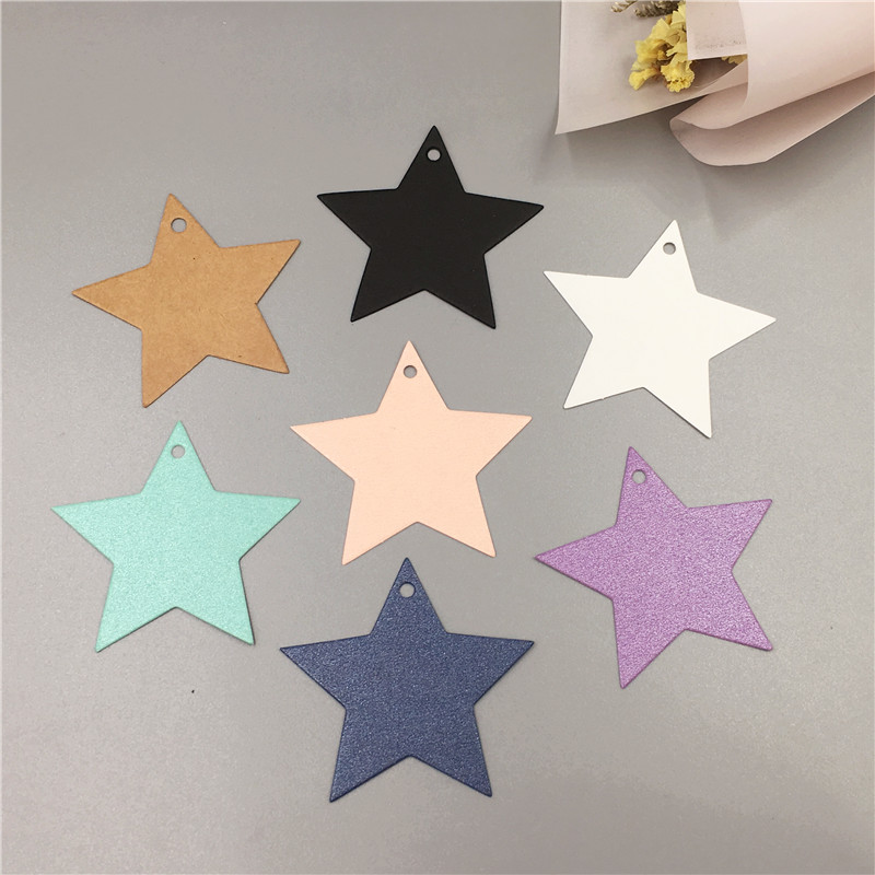 50 pcs multi-color pentagonal star-shaped small hanging card wedding decoration card luggage label gift price tag card