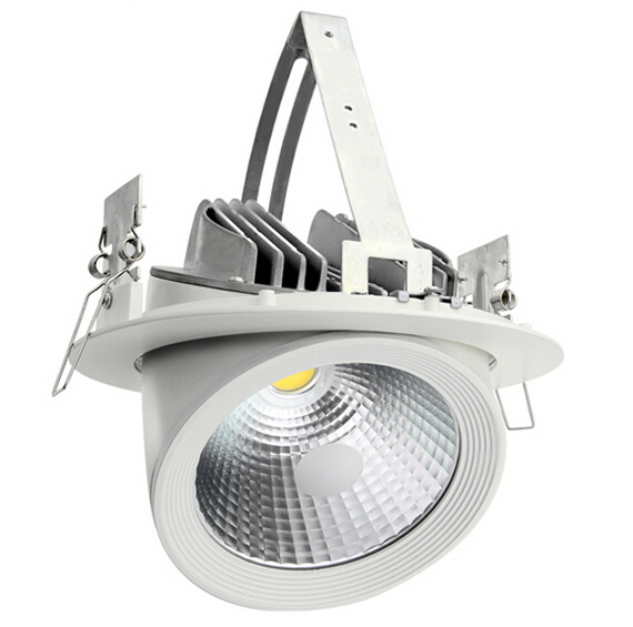 все цены на Free Shipping 30W Round COB Led Down light With Driver Passed CE ROHS LED Gimbal Embedded LED Trunk Lamps Lighting AC85-265V онлайн
