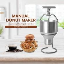 Manual Donut Maker Funnel Steel Cake Batter Dispenser Making Tool Adjusting Thickness Baking Sweet with Rack