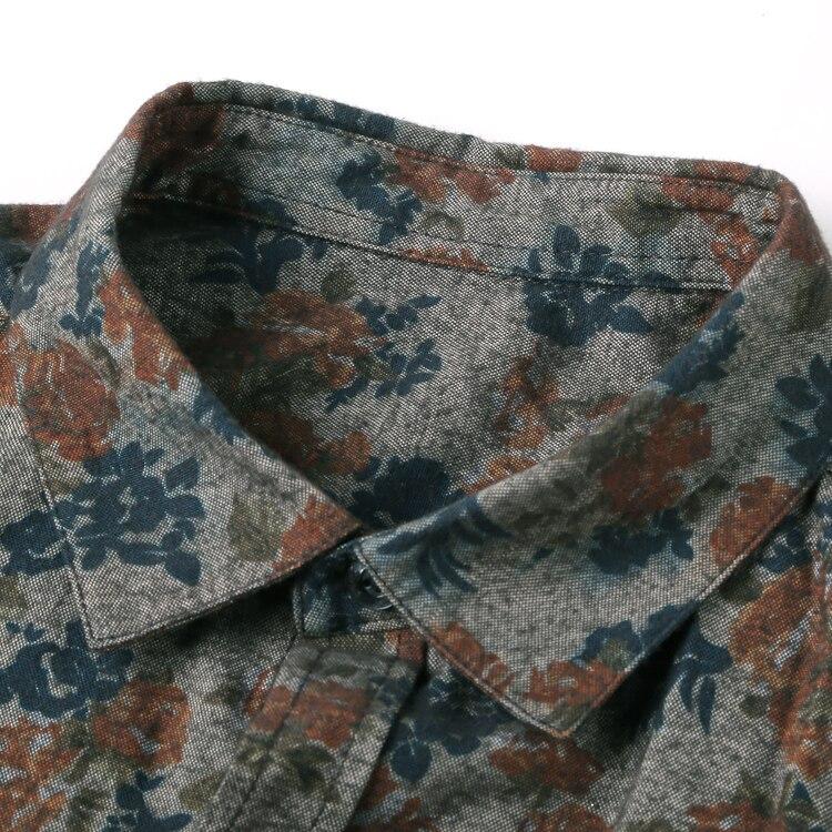 Image 4 - New Fashion Casual męska koszulka z długim rękawem europa Style Slim Fit koszula mężczyzna wysokiej jakości bawełna Floral koszula S2124fit shirtfashion men clothesmen clothes -
