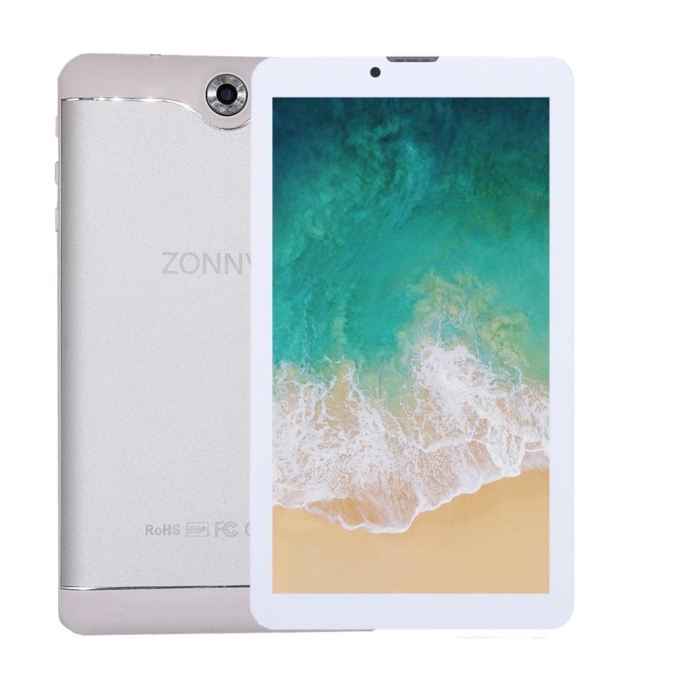 7.0 pouces Tablet PC 16 GB 3G Appel Téléphonique Android 6.0 Quad Core à 1.3 GHz Dual SIM wiFi OTG Bluetooth (Argent)