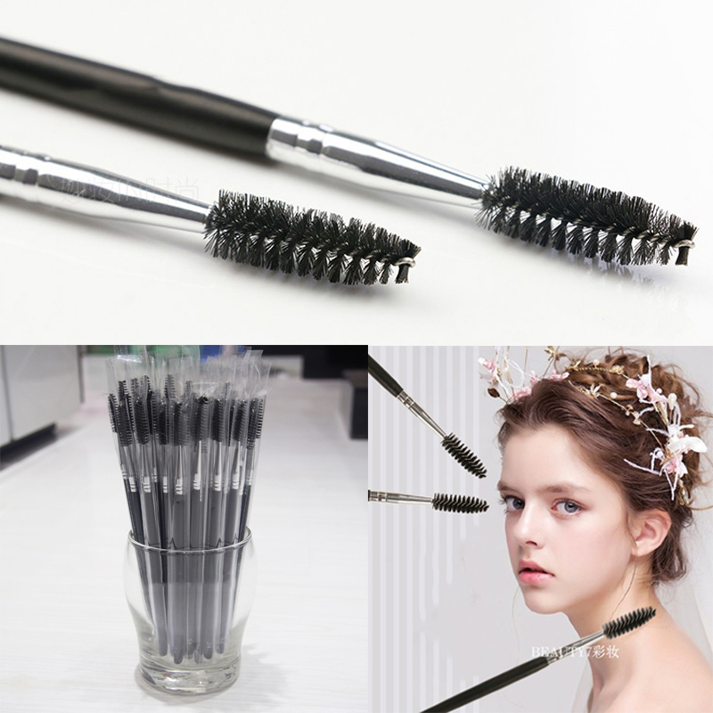 BEAUTY7 100pcs/Set Disposable Micro Eyelash Brush Mascara Wand Applicator Brush Eyelash Makeup Tools For Eyelash Extension beauty7 100pcs pack 2 0mm disposable micro brushes individual lash removing tools swab eyelash extension makeup tools pink