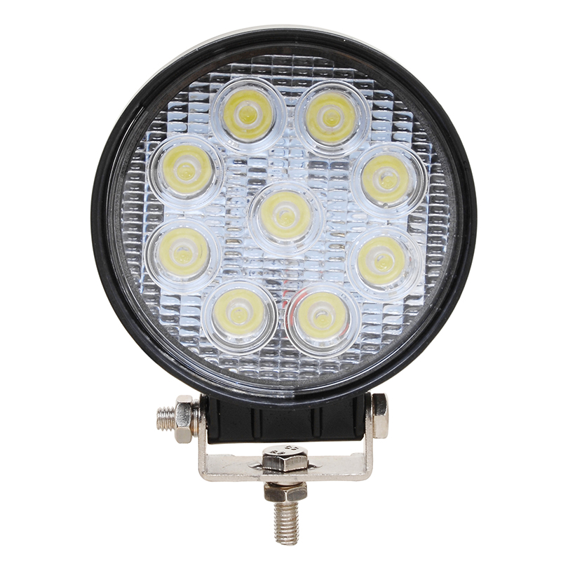 2pcs 4 inch 27W led work light spot/flood Tractor ATV Offroad LED Headlight driving fog lights 2pcs 80w 5inch led work light round led driving lamps with spot and flood cover off road fog bulb for offroad tractor 4wd atv