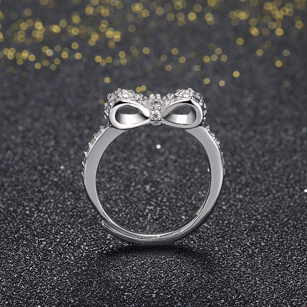wedding products bow diamond pid jewellery rings ring knot