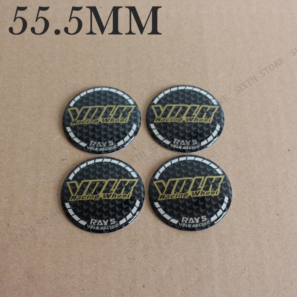 Kom Power 55 5mm Volk Rays Wheels Emblem Sticker Volk