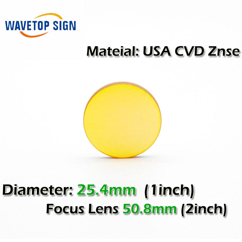 CVD ZnSe CO2 Laser Focusing Lens Dia. 25.4mm FL 50.8mm 2inch  use for Cutting Engraving Machine Accessories Carving Parts best quality aluminum laser head for co2 laser cutting engraving machine lens dia 20mm fl63 5mm left in beam