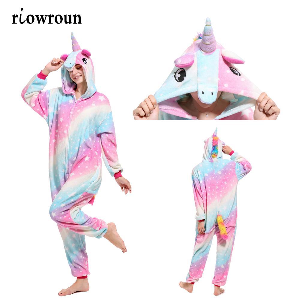 Disfraz de unicornio Kigurumi Animales Chica adulta niños Unicornio - Disfraces - foto 3
