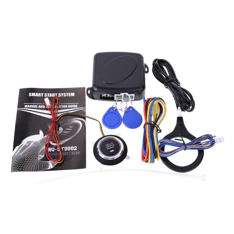 12v Car Alarm System Keyless Entry Push Button Start: 12V Car Engine Push Start Stop Button Ignition RFID