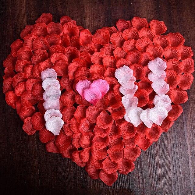 Wholesale 1000pcs Lot Wedding Rose Petals Decorations Flowers