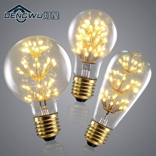 Retro Edison ST64 light source spiral E27 light bulb 3W light bulb LED warm yellow light bulbs