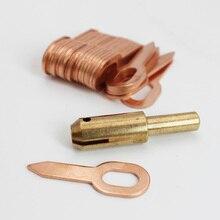 11 шт. вмятин Съемник набор Инструменты для ремонта кузова автомобиля точечная сварка электроды Корректировщик сварочный пистолет удаление прямолинейных вмятин для удаления