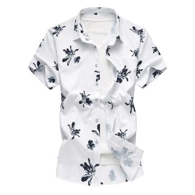 Летний модный бренд Для мужчин s рубашки Slim Fit Для мужчин с цветочным принтом Футболка с коротким рукавом Для мужчин Повседневное мужской гавайская рубашка плюс Размеры M-7XL - Цвет: 6938-1 Color