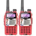 2 ШТ./ЛОТ Baofeng Красный УФ-5RA Для Полиции Рации Сканер Радио Укв Dual Band Ham Радио Трансивер