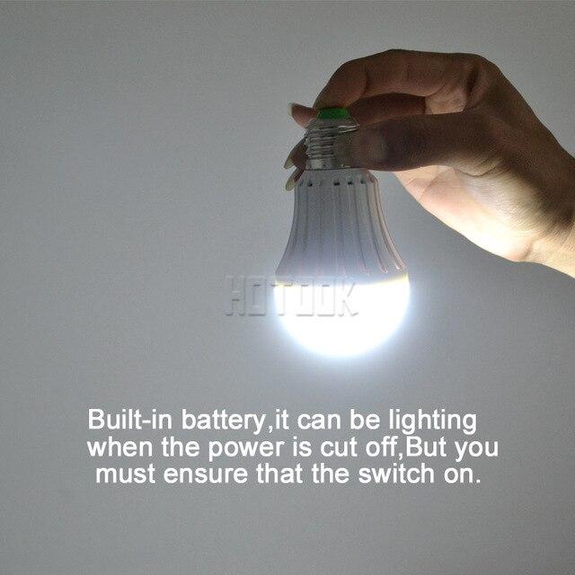LED Smart Bulb E27 7W 9W 12W led emergency light rechargeable Battery lighting Lamp for home indoor lighting bombillas CE RoHS