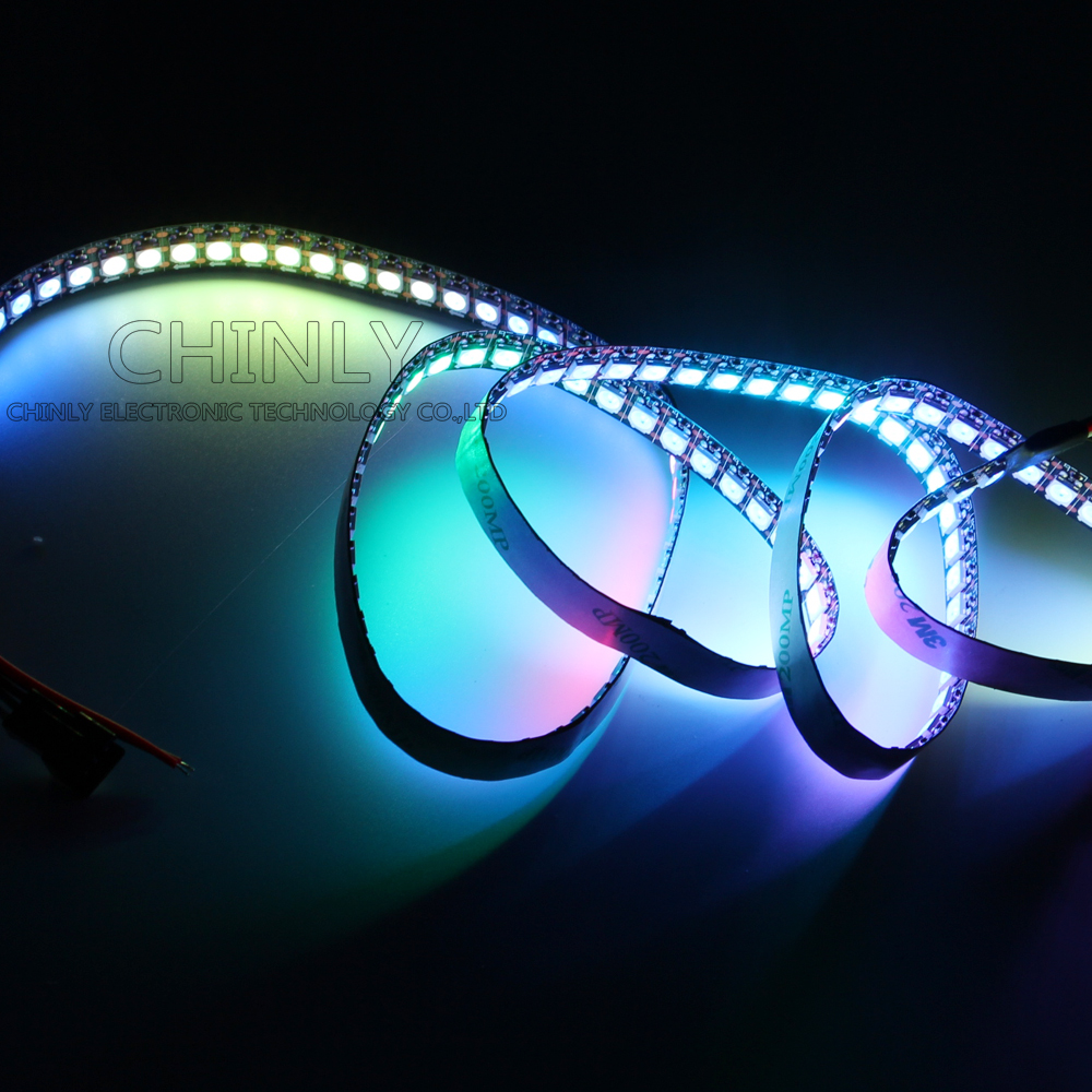 DC5V LED Pixel WS2812B LED Strip Light LED Light Strip for arduino Controller IP30 144LED/meter Black FPC 5pcs dc power female barrel to male barrel connector cable for cctv or led light controller 5 meter 5 5 x 2 1mm