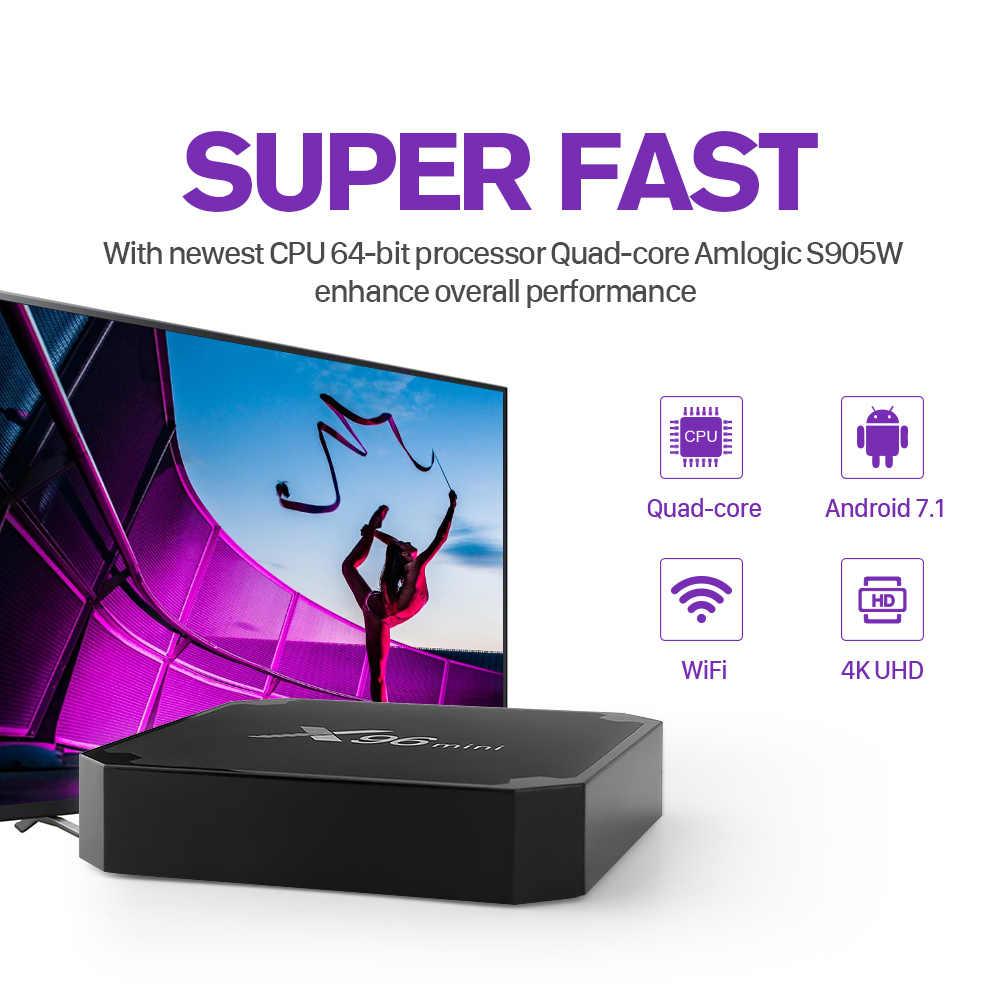 X96Mini arabe IPTV France SUBTV IP TV belgique Android 7.1 S905W 2 + 16GB 1 an abonnement IPTV pays-bas italien Code IPTV