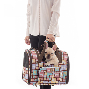 Image 2 - 高級キャンバス犬のキャリアバックパックバッグショルダーバッグペットリトルミディアム動物旅行屋外輸送ポータブルトート猫良い
