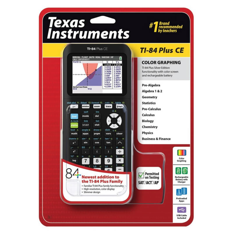 US $342 75 15% OFF|Texas Instruments TI 84 PLUS CE Programming Graphing  Calculator AP IB SAT International Exam Computer-in Calculators from  Computer