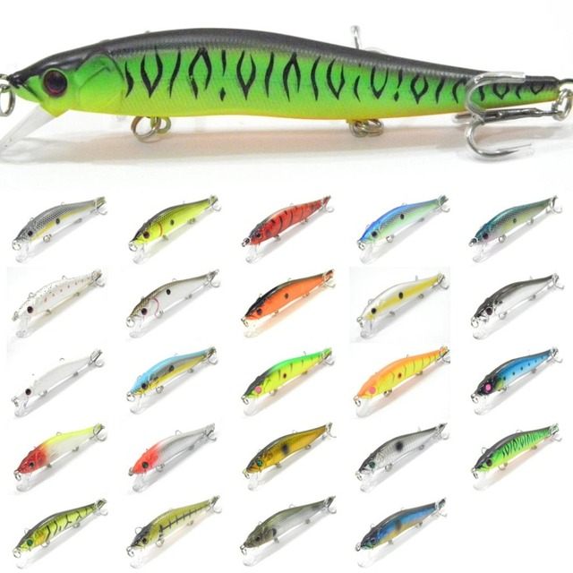 wLure Minnow Crankbait Hard Bait Tight Wobble Slow Sinking Jerkbait  High Quality ABS Model 110 14g 12cm Fishing Lure M262S