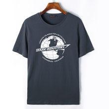 99bcba7b177b Flevans Iron Man Stark Industries Printed T-shirt Men Summer Cotton Fashion T  shirts Short Sleeves Tees Tops