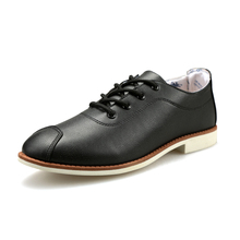 British Style Covering Small Pointed Toe Lace Up Low-Heeled Men Casual Leather Shoes