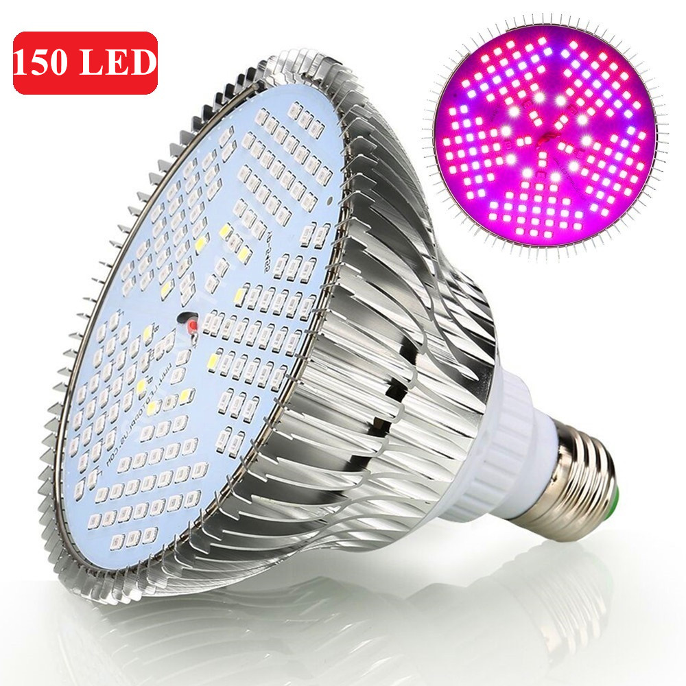 E27 Led 100w Us 26 25 25 Off 2pcs 150led Grow Light 100w Full Spectrum Ac85 265v E27 Led Plant Lamp For Indoor Garden Growth Flowering Hydroponics System In Led