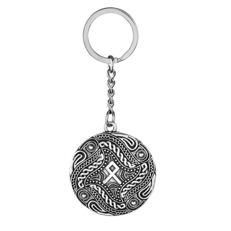Jewelry & Accessories 5pcs Othila Rune Charm Crow Odin Ravens Key Chain Best Friend Gift Nordic Viking Ethnic Warrior Jewelry Smoothing Circulation And Stopping Pains Jewelry Sets & More