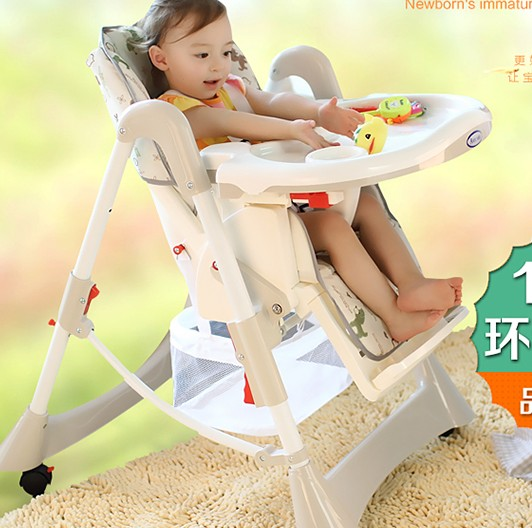 Multifunctional baby dinette folding chair portable baby seat child chair kids eat children a portable folding chair the baby seat the baby to eat chair baby pu cushion eat desk and chair stool