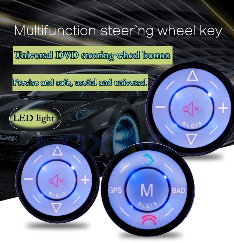 Car Steering Wheel Control DVD Button Universal wireless android gps navigation Car steering wheel remote control buttons momo pai car styling steering wheel concave peach wood mahogany competitive racing retro abs universal steering wheel
