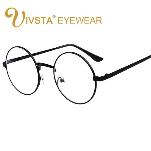 acquisto economico 3634e 423ab US $4.97 20% di SCONTO|IVSTA Vintage Rotonda Occhiali da sole Uomo Occhiali  di Harry Potter Occhiali Montatura Da Vista Occhiali Occhiali Chiari Donne  ...