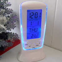 LED Digital LCD Alarm clock calendar thermometer with Blue Backlight Desk Clock reloj despertador Multifunction Digital Clock