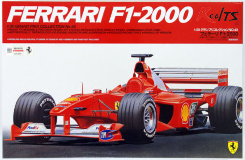 RealTS Tamiya 20048 F1 2000 1/20 scale kit