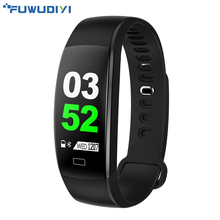 FUWUDIYI F64 HR Smart Bracelet Band Heart Rate Monitor Anti-lost Wristband Call Remind Fitness tracker Step Counter Alarm Clock