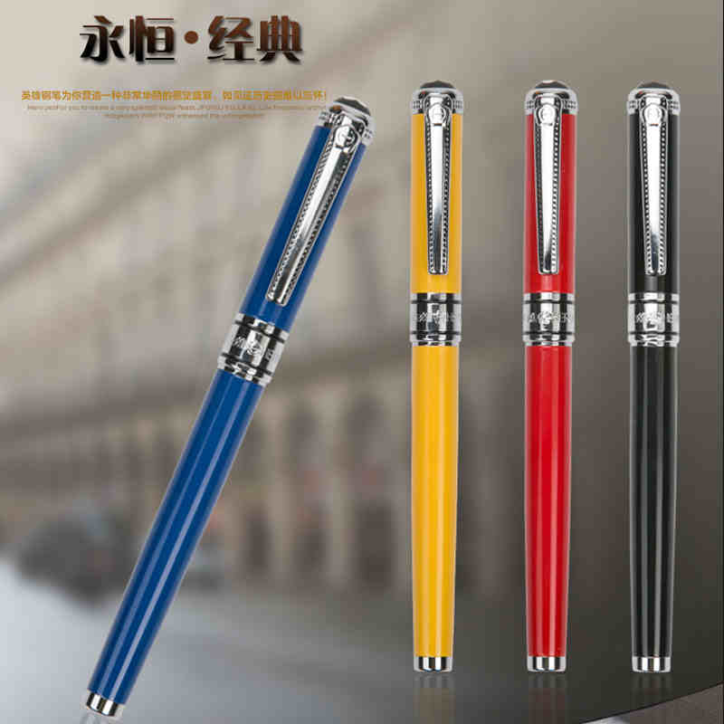 1Pcs/Lot Hero 1315 Fountain Pen 4 Colors Options 0.5mm Nib Standard Type Pens Free Shipping fountain pen m nib hero 1508 dragon clip signature pens the best gifts free shipping
