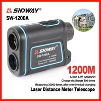 Original SNDWAY 1200m Laser Distance Meter Telescope Golf Hunting Rangefinder Range Finder Monocular 8X Trena SW
