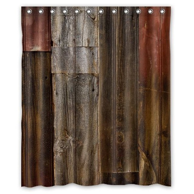Beau Memory Home Shower Curtain Colletion Decor Waterproof Decorative Rustic Old Barn  Wood Art Eco Friendly