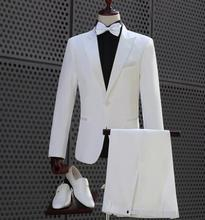 Marriage blazer men formal dress latest coat pant designs suit homme terno masculino trouser wedding suits for mens white