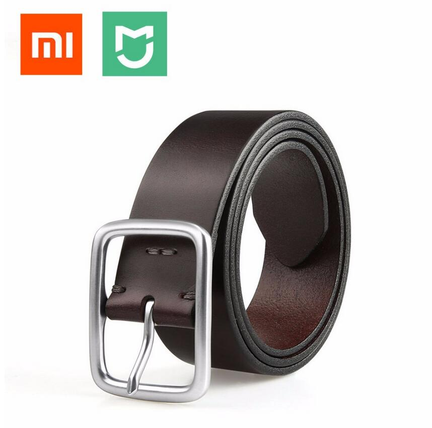 2018 xiaomi Mijia Qimian Freizeit Kuh Leder Gürtel Fünf Loch Zwei Farbe 38mm Breite Mann Alluminum Schnalle Für xiaomi smart home