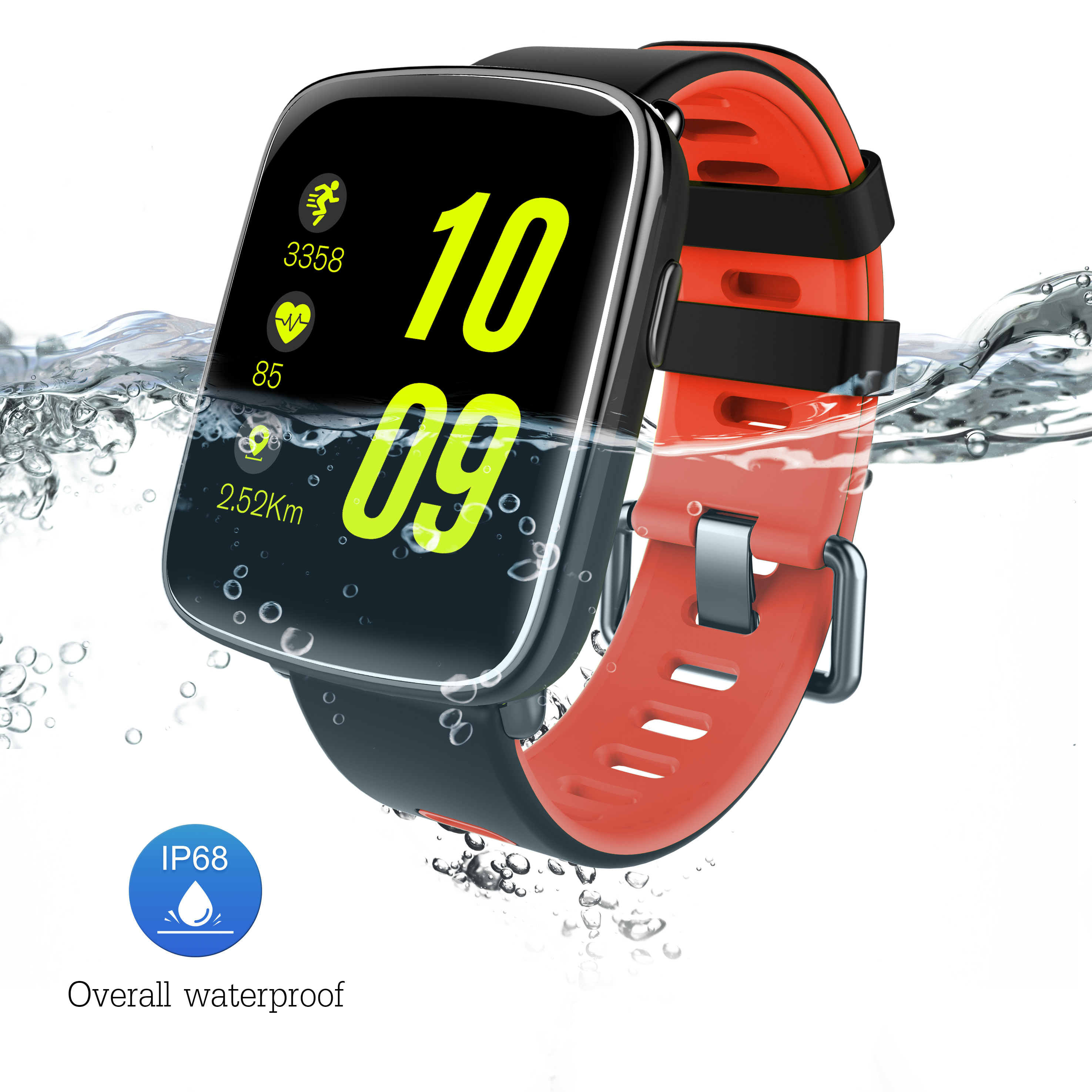 GV68 Smart Watch Bluetooth Smartwatch Men Sport Watch IP68 Waterproof Fitness Tracker Heart Rate for IOS Android Watch Phone lemdioe smart watch ip68 waterproof for men heart rate monitor multi sport mode bluetooth call smartwatch for android ios phone