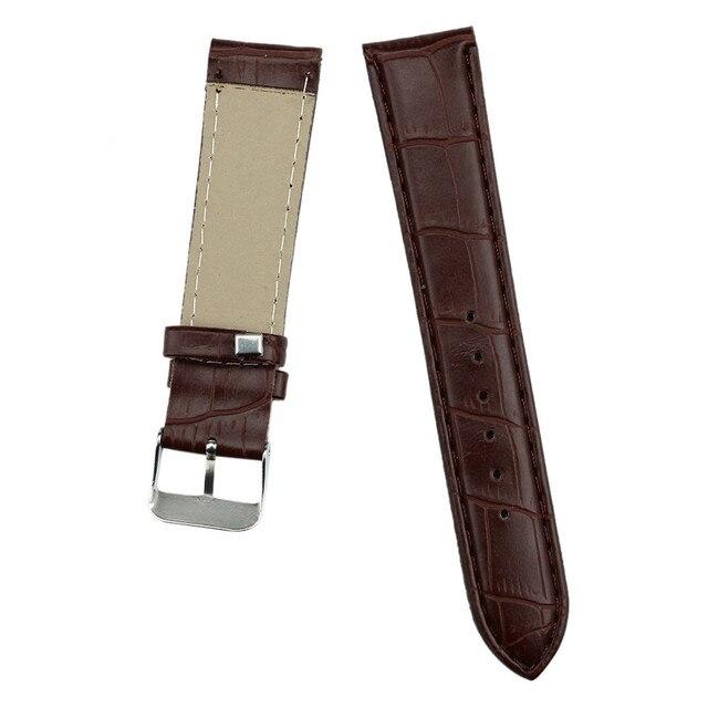 DOM Watch Bracelet Belt Black Brown Watchbands Faux Leather Strap Watch Band Men Women18mm 20mm 22mm Buckle Watch Accessories