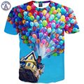 Mr.1991INC Summer Fashion Men/Women 3d T shirt printed funny house colorful balloon tops clothes T43