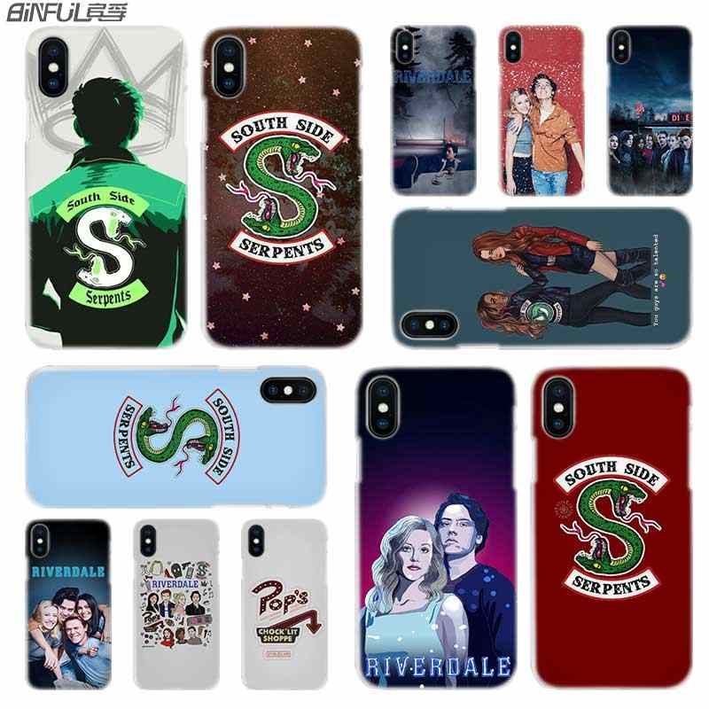 BINFUL iphone case cover transparent coque for iPhone X XR XS Max 8 7 6s 6 Plus 5 5s 5c SE 4s 4 American TV Riverdale